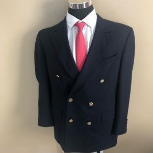 Burberry Double Breasted Gold Button Blazer 48R